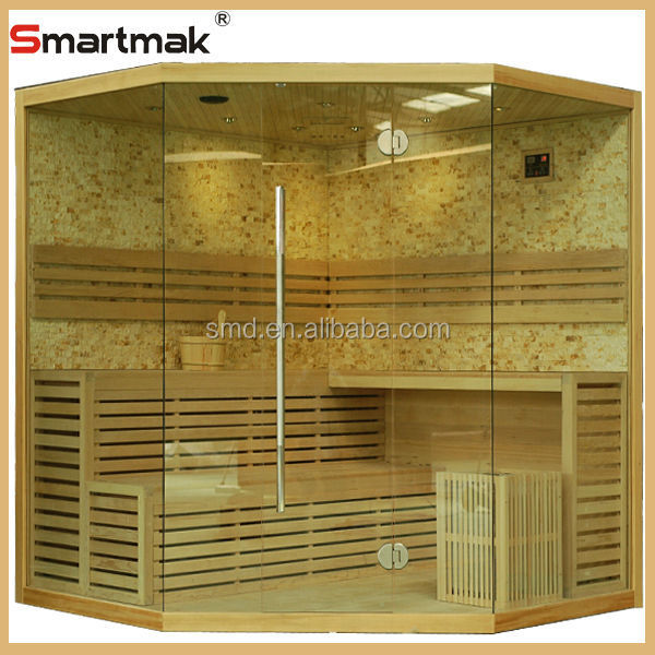 Canada hemlock luxury ozone traditional sauna room,steam sauna cabine,steam sauna
