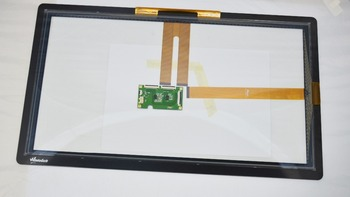 Customize capacitive touch screen panel 21.5 inch usb point G+G structure