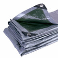 Green Silver Ready Made PE Tarpaulin with UV Stabilizer