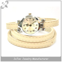 Fashionable Strap Leather Wrist Watch With Genuine Leather