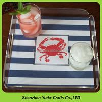 Buy simple handmade transparent acrylic tray disposable crystal ...