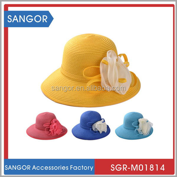 Best-selling special wide brim sun straw hat with cotton