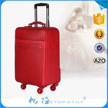 Lady Leather Luggage Canvas leather luggage for fashion trolley luggage