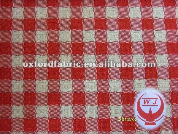check /plaid jacquard oxford fabric for tablecloth/bags