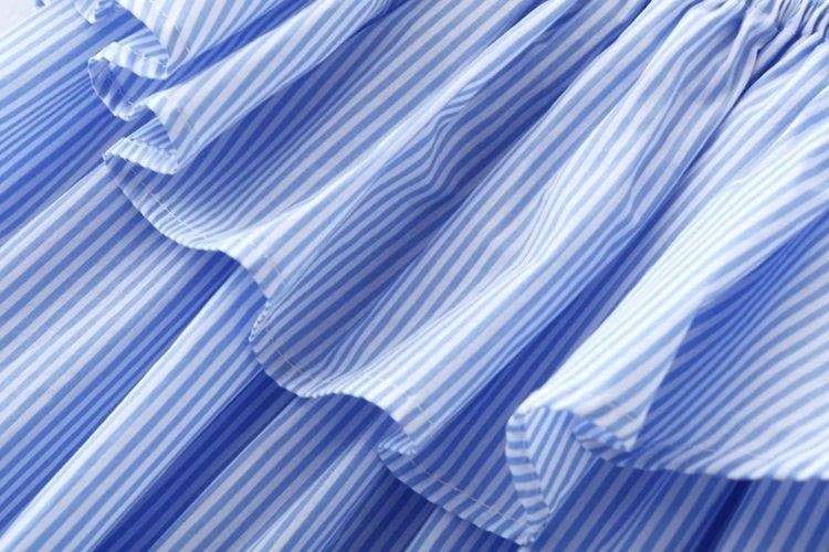 2017 newest design Garment factory wholesale off-shoulder casual stripe sexy summer women dress
