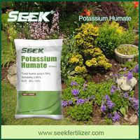 Potassium humate fertilizer for organic garden seeds