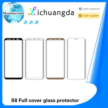 high quality 3D full cover tempered glass screen protector for Samsung S8 universal size
