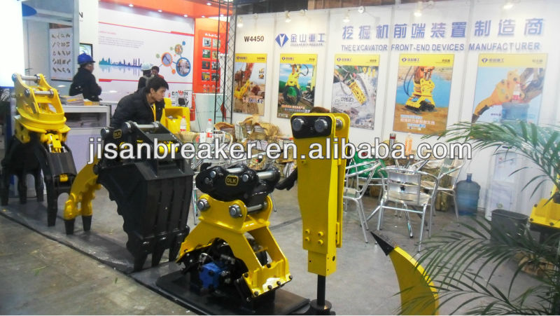 Excavator hydraulic pulverizer attachments