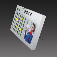 Acrylic Frame stand desk calendar in different shapes for promotion gifts calendar