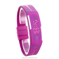 1pcs/lot retail wholesale fashion candy colors silicone women rubber digital watch Led surface sports wrist Watch