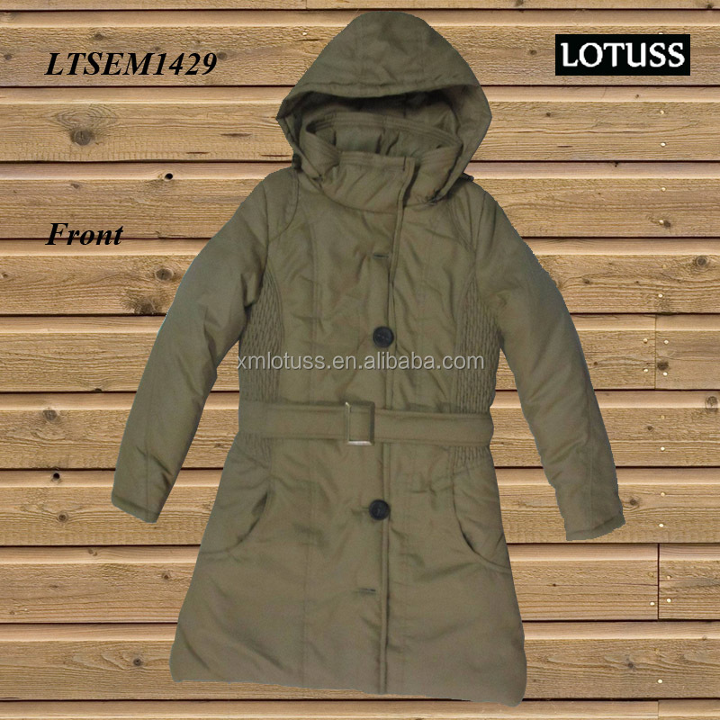 LTSEM1429 WINTER 2016 WARM POLY TWILL PADDING JACKET FOR LADIES STOCK