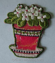 the newest design high quality flower embroidery patch for clothes