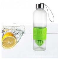double wall portable glass fruit infuser water bottle