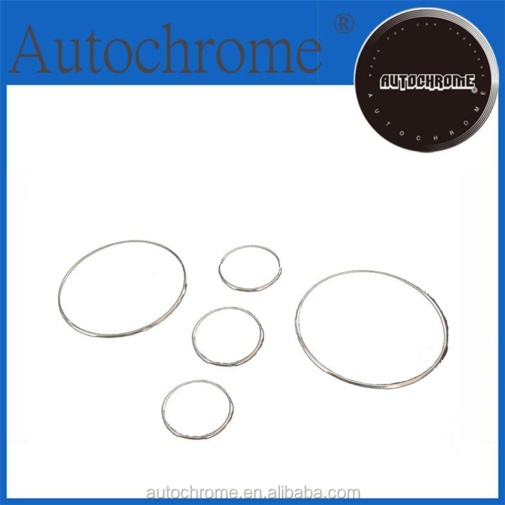 Flexible Plastic Chrome Trim, Car Accessory Dash Board Gauge Ring Set for Mazda MX-5