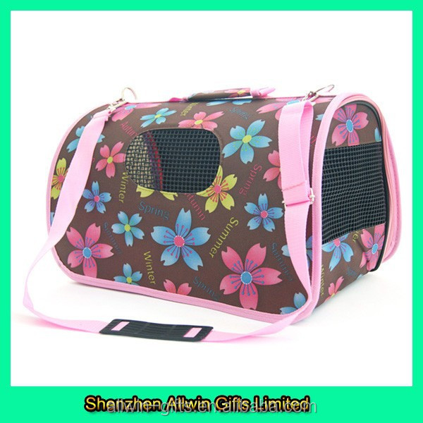 Printed portable pet cage dog carrier pet dog carrier
