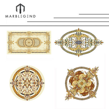 Free consultation Hotel lobby marble medallion pattern waterjet marble flooring tiles design