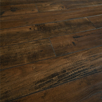 Dark Brown embossed Maple Grain Anti-Slip Laminate Wood Flooring 12mm