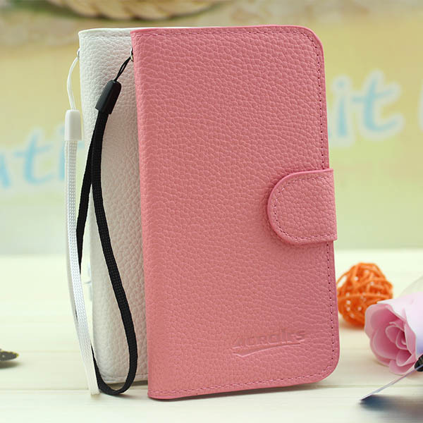 Wholesale Hot Sale Lychee Grain Wallet Pouch Flip Leather Cover Case for BlackBerry Z10