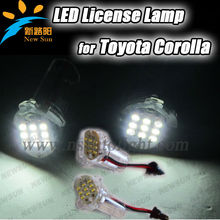 high quality led license plate lamp for toyota alphard,for corolla atis(01-07),ist,wish(09~),Led License Plate Lamp For corolla