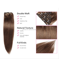 8 Inch - 22 Inch Wholesale Clip In Hair Extension Pure Virgin Indian Remy Hair For African American Black Women