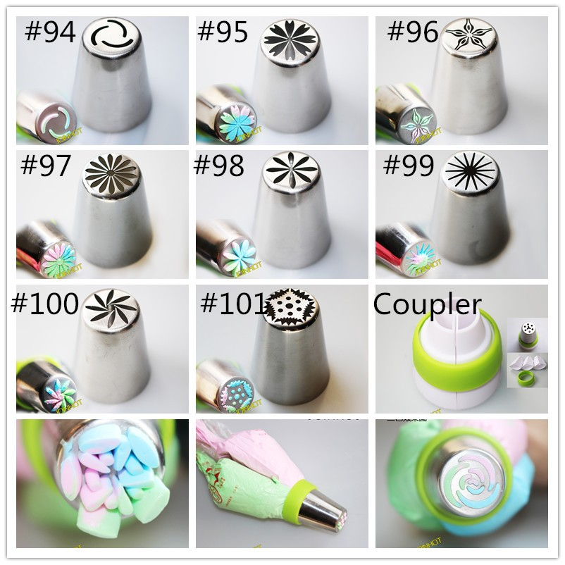 304 staianless steel high quality polished surface big size russian tulip nozzle-32 designs for chose