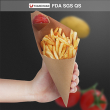 Stocking folding paper cardboard boxes for packaging cone french fries