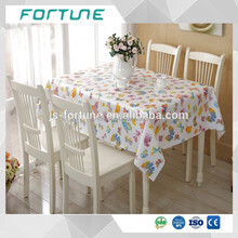 Water Soluble 0.08mm-0.50mm Clear Plastic PVC Table Cloth
