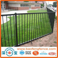 Black Green White Powder Coated Aluminum Fence for USA CA AU NZ Market (Factory & Exporter)
