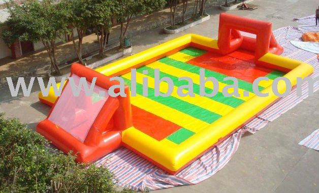 Inflatable soccer, football field