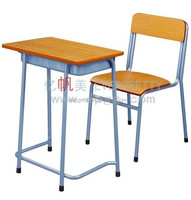 New and Hot Wholesale School Furniture Standard Classroom Single Desk and Chair for High School Students