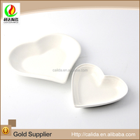 Competitive price factory direct sale LD11449 heart shaped dinner plates made in China