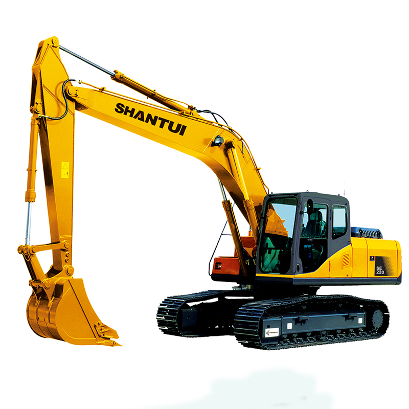 Hydraulic crawler excavator with blade and thumb