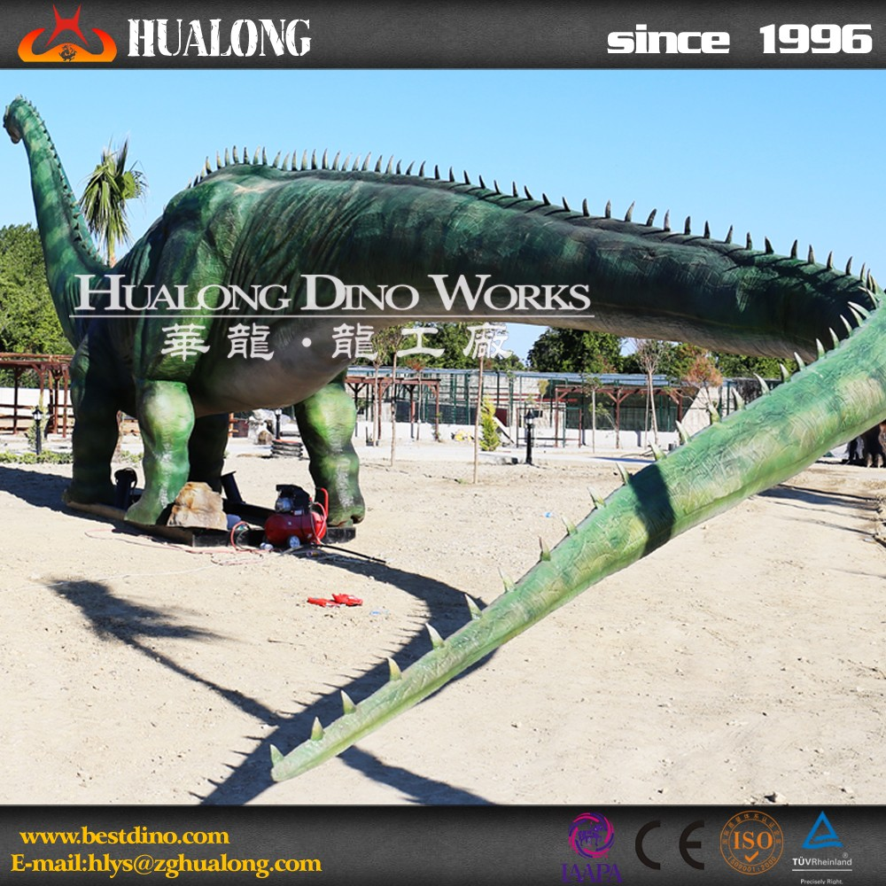 Amusement Park Vivid Mechanical Dinosaur Simulation