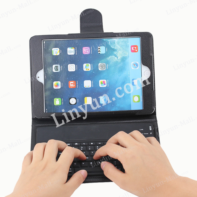 For iPad mini bluetooth keyboard case with holder