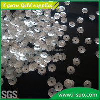 Bulk transparent cancave shape glitter for textile