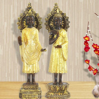 Creative resin electroplate resin wholesale buddha statues