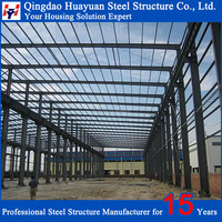 2016 galvanized welded H section steel structure warehouse building material