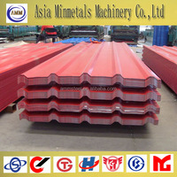 prepainted color galvanized corrugated steel roof sheet in coils