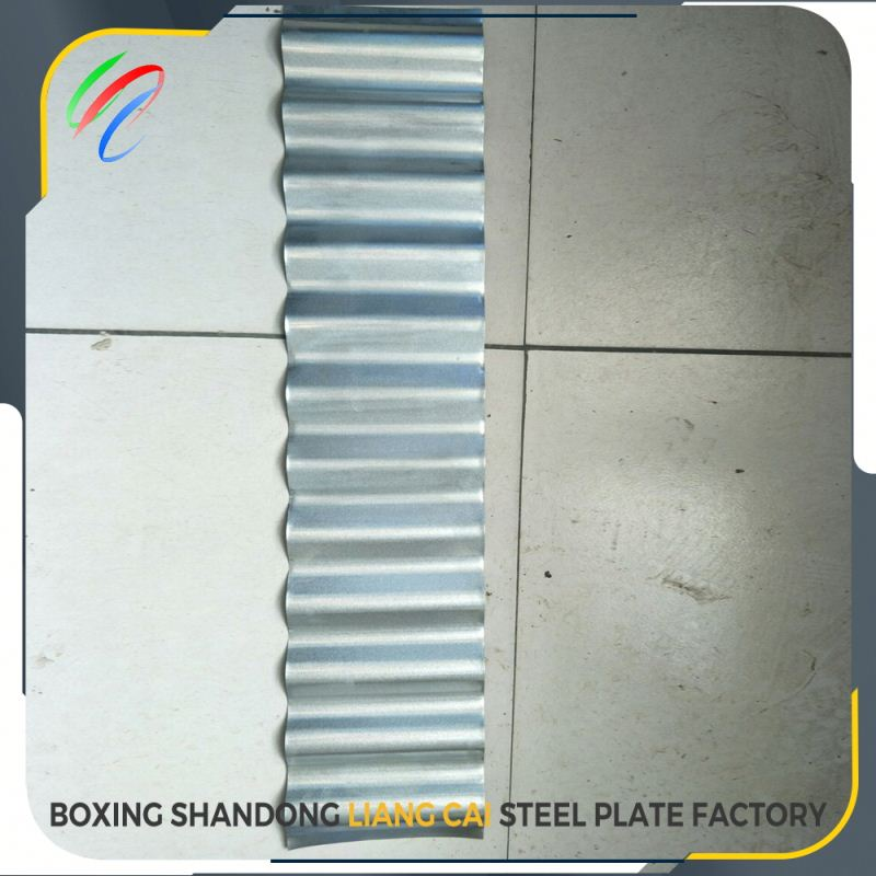 Gilding metal clad galvanized corrugated steel sheet