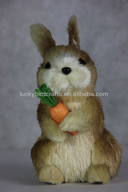 lovely sisal bunny for easter/sisal rabbit