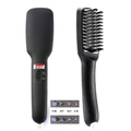 Second Generation OEM Private Label Hair Brush Straightener 2 in 1 Anion LCD Electric Fast straightener hair brush