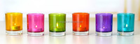 Wholesale glass jar for candle and glass votive candle holder container hot sale