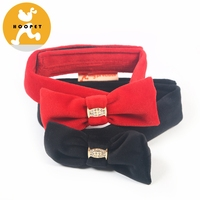 New release red and black fashion pet bowknot collar