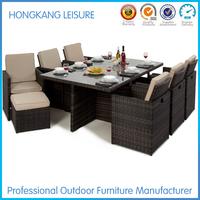 Rattan Cube Garden Furniture Indoor Bamboo Furniture