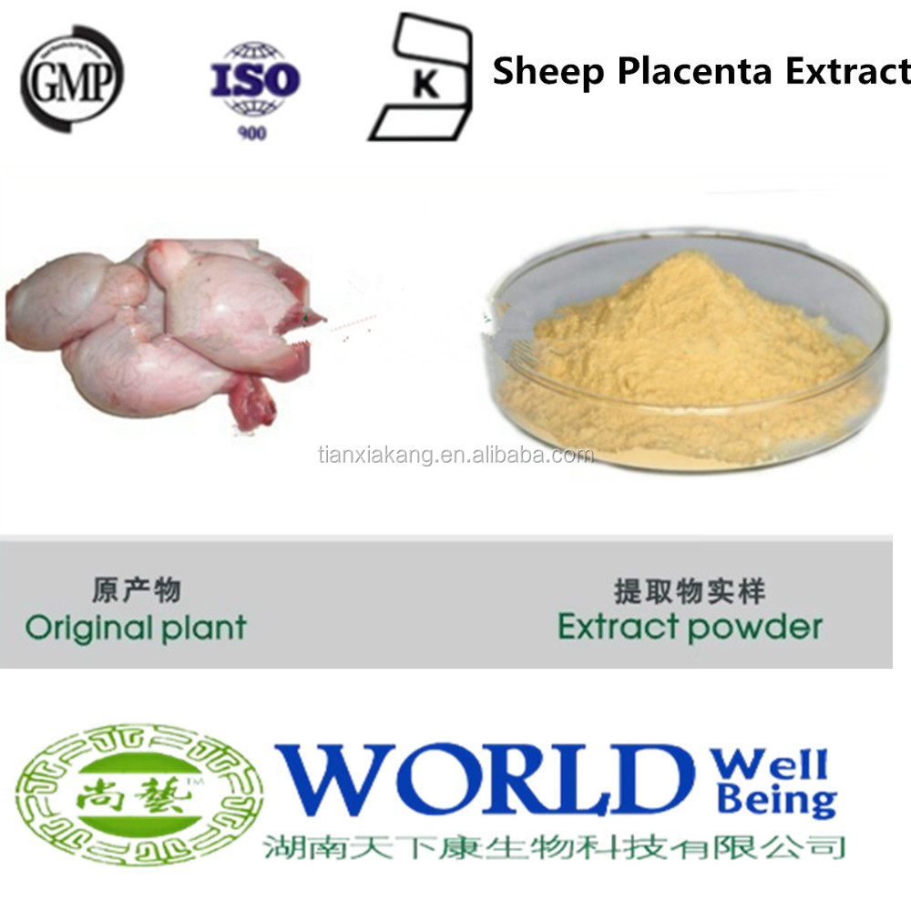 Sheep Placenta Extract 100% Natural Placenta Extract Low Price Ovine Placenta Extract Powder