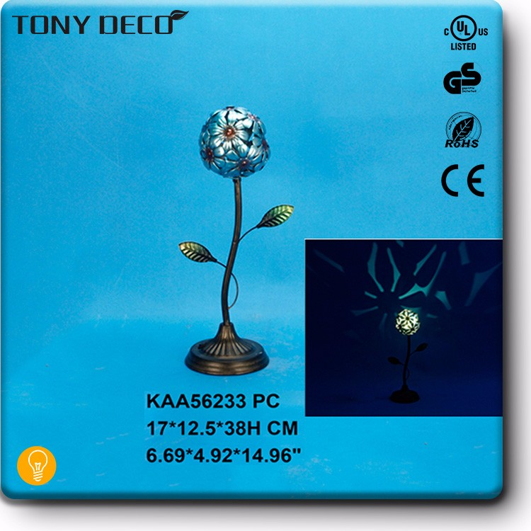 Home Decoration Ornament Flower Art Metal Table Lamp
