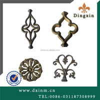Small metal ornaments for decorative indoor gates and cast iron gate parts