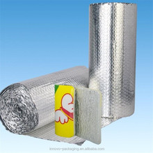 double side air bubble film with aluminum foil facing radiant barrier heat insulation
