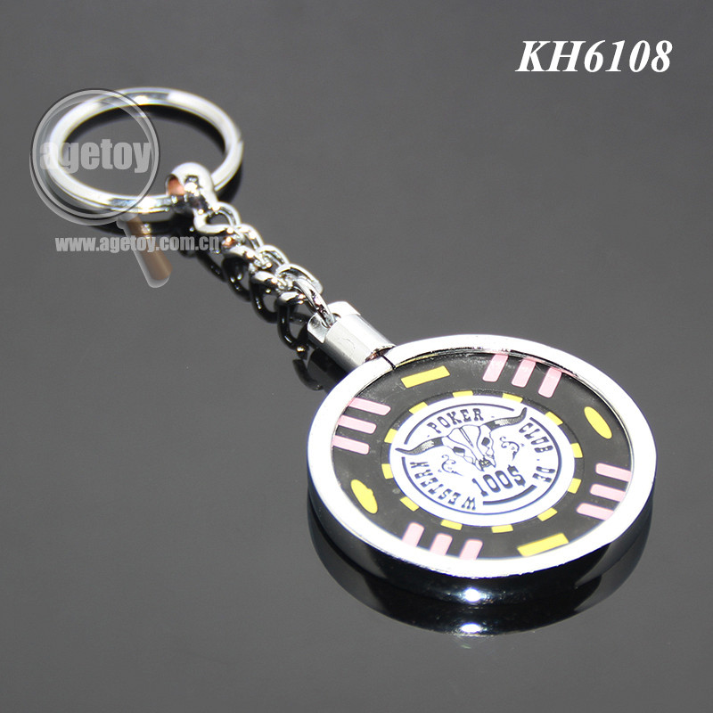 45mm Coin Holder Custom 40mm Clay Poker Chip Zinc Alloy Metal Casino Chip Key Chain