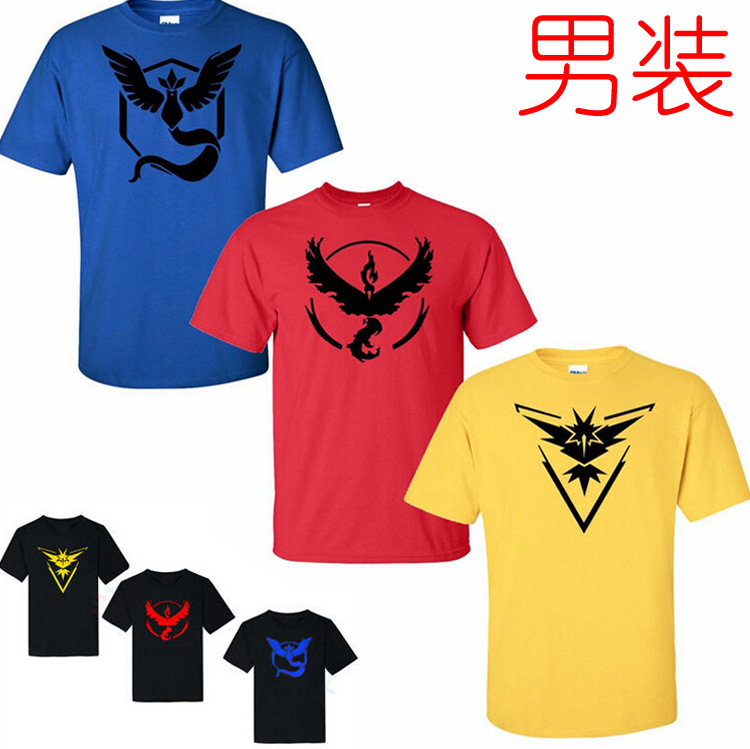 2016 hot game pokemon go t shirt pokemon shirt wholesale for promotion selling
